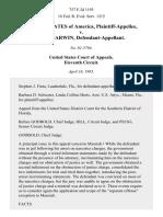 United States v. Tony Darwin, 757 F.2d 1193, 11th Cir. (1985)