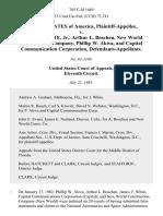 United States v. James T. White, Jr., Arthur L. Boschen, New World Construction Company, Phillip W. Akwa, and Capital Communication Corporation, 765 F.2d 1469, 11th Cir. (1985)