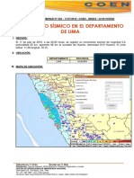 Movimiento sísmico en Lima