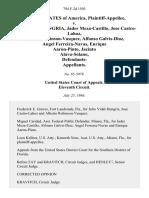 United States v. Julio Vidal-Hungria, Jader Meza-Castillo, Jose Castro-Lahoz, Alberto Robinson-Vasquez, Alfonso Galvis-Diaz, Angel Ferreira-Navas, Enrique Aaron-Pinto, Jacinto Alava-Solano, Defendants, 794 F.2d 1503, 11th Cir. (1986)