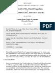 Sendhabhai Patel v. Dr. Alex Wargo, Etc., 803 F.2d 632, 11th Cir. (1986)