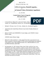 United States v. Robert Cohen and Samuel Cohen, 888 F.2d 770, 11th Cir. (1989)