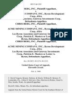 Chris Berg, Inc. v. Acme Mining Company, Inc., Byron Development Corp., D/B/A Les Byron Associates, Gateway Investments Corp., Chris Berg, Inc. v. Acme Mining Company, Inc., Byron Development Corp., D/B/A Les Byron Associates and Gateway Investments Corp., Patricia E. Masters or Lester A. Byron, Chris Berg, Inc. v. Acme Mining Company, Inc., Byron Development Corp., D/B/A Les Byron Associates and Gateway Investments Corp., Patricia E. Masters or Lester A. Byron, 893 F.2d 1235, 11th Cir. (1990)