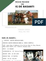 Movie Review on Rang de Basanti
