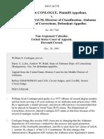 William Scott Conlogue v. Dr. Marion Shinbaum, Director of Classification, Alabama Department of Corrections, 949 F.2d 378, 11th Cir. (1991)