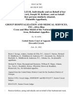 Patricia M. Kobleur, Individually and on Behalf of Her Husband and Ward, Joseph M. Kobleur, and on Behalf of All Other Persons Similarly Situated v. Group Hospitalization and Medical Services, Inc., D/B/A Blue Cross and Blue Shield of the National Capital Area, 954 F.2d 705, 11th Cir. (1992)