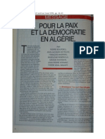 Pour la paix et la démocratie en Algérie  (pétition Jeune Afrique)