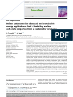 Molten Carbonates for Advanced and Sustainable Energy Applications
