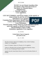 Haney v. City of Cumming, 69 F.3d 1098, 11th Cir. (1995)