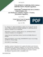 Lummus v. Unsecured Creditors', 85 F.3d 575, 11th Cir. (1996)