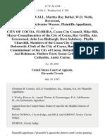 Stovall v. City of Cocoa, Florida, 117 F.3d 1238, 11th Cir. (1997)