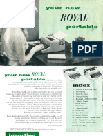 Royal Portable Manual