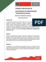 Diplomado Especializado en Siaf Sistema Integrado de Administracion Financiera Del Estado