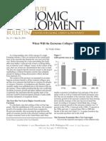 When Will the Eurozone Collapse?, Cato Economic Development Bulletin No. 14