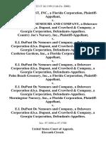 Foliage Forest, Inc., a Florida Corporation v. E.I. Dupont De Nemours and Company, a Delaware Corporation D.B.A. Dupont, and Crawford & Company, a Georgia Corporation, Country Joe's Nursery, Inc. v. E.I. Dupont De Nemours and Company, a Delaware Corporation D.B.A. Dupont, and Crawford & Company, a Georgia Corporation, Castleton Gardens, Inc., a Florida Corporation v. E.I. Dupont De Nemours and Company, a Delaware Corporation D.B.A. Dupont, and Crawford & Company, a Georgia Corporation, Palm Beach Greenery, Inc., a Florida Corporation v. E.I. Dupont De Nemours and Company, a Delaware Corporation D.B.A. Dupont, and Crawford & Company, a Georgia Corporation, Morningstar Nursery, Inc., a Florida Corporation v. E.I. Dupont De Nemours and Company, a Delaware Corporation D.B.A. Dupont, and Crawford & Company, a Georgia Corporation, 221 F.3d 1199, 11th Cir. (2000)