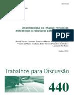 Decomposição Da Inflação - Revisão Metodologia e Resultados 2012-2014 (BACEN)