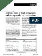 Estimate Costs of Heat Exchangers