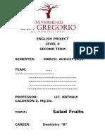 English Project Level II -Second Term Term Marzo -Agost.2015 - Copia