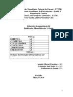 Relatório 04 - Retificador Monofásico de Meia Onda