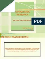 Riset Operasi - Metode Transportasi