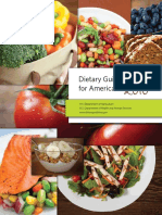 Dietary Guidelines Allowances for Americans 2010 USDA