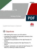 Training Documentation GBSS15.0 High Precision TA 20130515 a V1.1