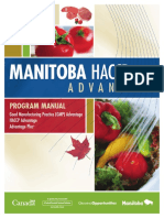 Manual GMP and HACCP Guide Book