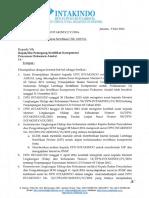 Surat Pemberhentian Sertifikasi LSK AMDAL