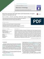 La Generación de Electricidad a Partir de Residuos de Alimentos y Las Características de La Materia Orgánica en La Celda de Combustible Microbiana