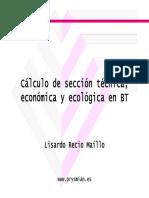 Prysmian Seccion Tecnica Economica y Ecologica en Bt Nuevo Facel 90 c