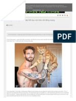 Chàng Trai Bụng 6 Múi Tập Thể Dục Với Mèo Nổi Tiếng Mạng