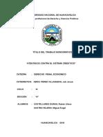 Atentados Contra El Sistema Crediticio (1)