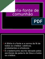5-A Bíblia-fonte de comunhão, João Lima e Miguel Santos 8ºA