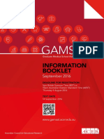 GAMSAT Information Booklet Sep
