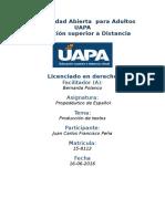 Tarea 6 Unidad VI Propedeutidco de Español (UAPA)