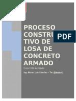 Proceso Constructivo de Losa de Concreto Armado - Ing. Nestor Luis Sanchez - %40NestorL