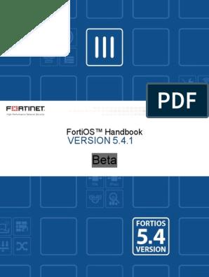 fortios-handbook-54 pdf | Virtual Private Network | I Pv6