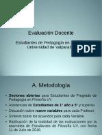 Presentación Informe Evaluación Docente Estudiantil Filosofía Valparaíso