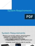system requirements ppt