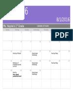 august class calendar