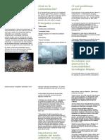 El planeta y su deterioro, folleto informativo.
