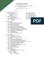 Modern Physics Syllabus (2015)