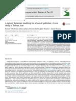 A system dynamics modeling for urban air pollution A case study of Tehran, Iran.pdf
