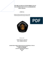 Aplikasi Software WaterCAD Untuk Perencanaan Jaringan Pipa Di Perumahan Puncak Borobudur Kota Malang Wiwit Indah Yamianti 115060413111002