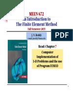 Computer Program FEM1DF15 (Ch7)