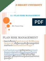 3 0 Plan Risk Management