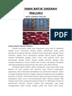 Ummi Kerajinan Batik Daerah Maluku