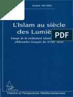 l Islam Au Siecle Lumieres