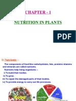 1 Nutrition in Plants