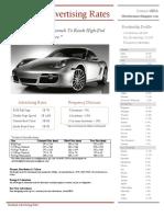 Standard Advertising Rates